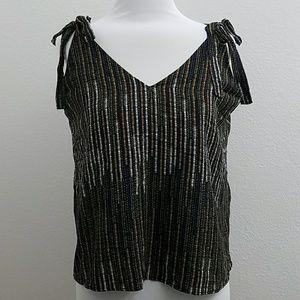 H&M Flowy Shoulder Tie Top